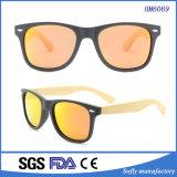 Gafas de sol de bambú del bambú de la insignia del laser de los brazos de los templos del marco superventas de la PC
