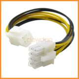 4つのPinの女性PCIの明白なグラフィックス・カードの電源ケーブル18AWGへのPCI-E 8 Pinの男性