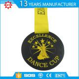 Медаль заплывания заливки формы медное с выгравированным логосом (XY100607)