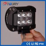 luz de condução do diodo emissor de luz do CREE de 18W 4X4 para o jipe Offroad
