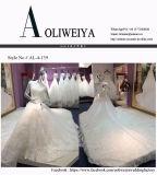 Luxus, der weiße Hochzeits-Kleider für Braut bördelt