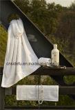 Essuie-main 100% d'hôtel de luxe de coton, essuie-main large de Bath de cadre de ratière, essuie-main de main, essuie-main de face et jeux de tapis de bain