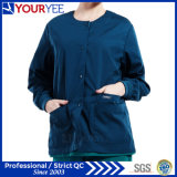 A parte dianteira feita sob encomenda da pressão do Warm up do Workwear dos cuidados médicos do hospital esfrega o revestimento (YHS114)