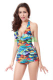Reizvolle gedruckte Frauen einteiliges Swimwears