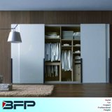 Gabinetes de madeira do armário do Wardrobe do quarto com porta deslizante