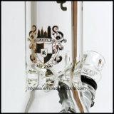 Nieuwe 12 van Illadelph Duim Pijp van het Glas van de Rokende bij de Basis van de Beker in Zwarte van de Dikte van de Waterpijp van 9mm de Duidelijke Dikke