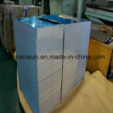 Feuille 5052 H32 en aluminium avec le film bleu de PE