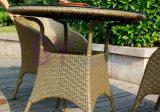 セットを食事する柳細工のPEの藤の屋外のレストラン