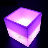Tabella del cubo del LED/Tabella alla moda di illuminazione/benna di ghiaccio brillante del cubo Tabella di svago