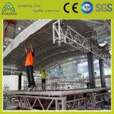 屋根のトラスデザインパフォーマンスアルミニウム段階の正方形DJの照明トラス