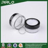 5g 5ml Transparante Plastic Kosmetische Kruik met Poederdonsje
