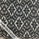 Figura geométrica nova tela de nylon do laço do algodão do projeto