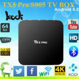 Tx5 PRO joueur sec 2.4G+5.8g de Kodi 16.1media de faisceau de quarte de cadre de l'androïde 6.0 TV d'Amlogic S905X 2g 16g de guimauve de l'androïde 6.0
