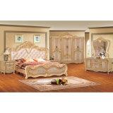 Antike Schlafzimmer-Möbel mit klassischem Bett und Garderobe (806A)