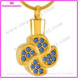 De herdenkings Tegenhanger van het Blad van de Halsbanden & van de Tegenhangers van Juwelen met Kristallen