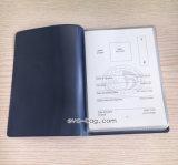 Poseedor de una tarjeta de identificación reutilizable de la identificación de la cubierta del pasaporte del PVC del plástico con insignia del oro