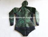 de Vlotte Huid Wetsuit van Spearfishing van de Camouflage van 7mm met Kleefstof. Wm01