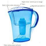 3.5 litros de agua de jarra del filtro con el casquillo del recordatorio del filtro de Digitaces