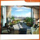 pintura al óleo natural animada del paisaje del jardín del balcón 3D para el adornamiento interior