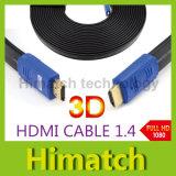 Version plate à grande vitesse du câble 1.4 du théâtre à la maison HDMI d'installation de mur