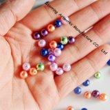 プラスチックはバルク緩い真珠が玉を付ける6mmを着色した(P161220A)