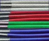 Corde enduite en nylon 316 1*7-0.45/0.7mm de fil d'acier