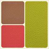 Зеленая и прочная искусственная кожа PVC для софы