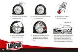 Sellador y aparato para inflar con aire del neumático para el coche