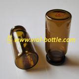 Изготовленный на заказ печатание логоса на пробирках дна 10ml янтарных стеклянных