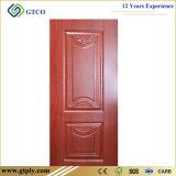 Piel moldeada profunda blanca de la puerta de los 6 paneles