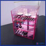 중국 도매 주문 허영 분홍색 공간 아크릴 입방체 상자