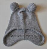 Cashmere Blend bebé de la gorrita tejida POM POM sombreros de punto