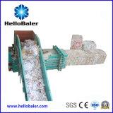 Plástico horizontal Seim-Automático, compresor del papel usado con Converyor