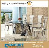 Tableaux dinants réglés de grands meubles en verre de modèle moderne