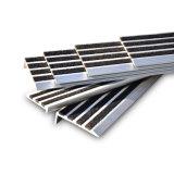 Sospecha de aluminio Bullnose de la escalera del resbalón de la pieza inserta anti del carborundo