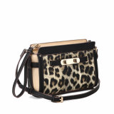 Saco Charming de Crossbody do leopardo do ornamento de metal (MBNO040018)
