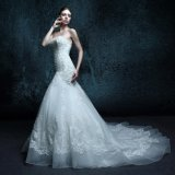 Sweetheart Real Photo Appliques Wedding Dress (ZXB-6)