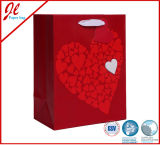 Silver Sparkling Love Wedding Gift Paper Bags with Hang Tag
