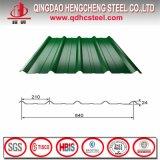鋼板に屋根を付ける上塗を施してある波形鉄板を着色しなさい