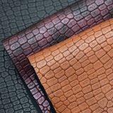 Matt-Krokodil-Muster synthetisches PU-Leder für Beutel-Schuh-Dekoration