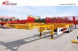 40FT Skelett-Behälter-Transportvorrichtung-halb Schlussteil für Verkauf