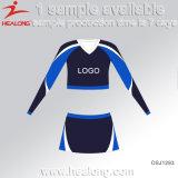 De Healong do poliéster tintura 100% inteiramente Sublimated mais o uniforme do Cheerleading do tamanho