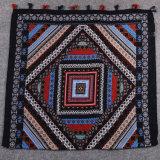 Lenço de tamanho grande do xaile do Poncho do poliéster do algodão de Pashmina da impressão colorida nacional do estilo