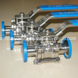 Food Beverage Industry를 위한 Ss316L Electric Triclamp 3 Piece Ball Valve
