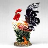 Coq en céramique peint à la main de décoration à la maison
