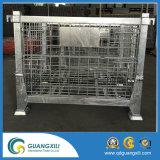 Cage de stockage en acier pliant avec jambe forte en mode de levage