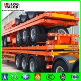 20FT/40FT/45FT 콘테이너 수송 트레일러 에어백 현탁액을%s 가진 평상형 트레일러 트럭 트레일러