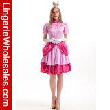 Nintendo супер Марио Bros женщин. Costume платья партии Princess Персика Люкс Halloween