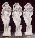 Высеканный орнамент сада скульптуры мраморный статуи каменный высекая для украшения (SY-X1075)