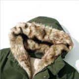 冬の衣服のための長いビロードの毛皮カラージャケット